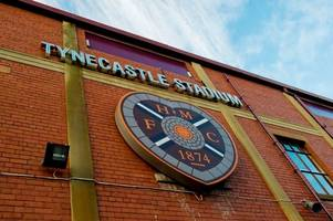 tynecastle sign reads 'blood doesn't show on a maroon jersey' but it was sweat that was missing at dons clash