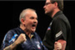 darts: it's phil taylor v peter wright in premier league semi...