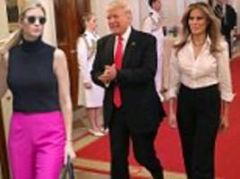 melania and ivanka trump both look chic in stylish pants