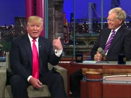donald trump's first-ever tweet was a plug for 'late night with david letterman'