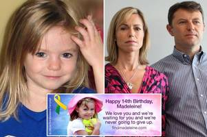 'we're waiting for you': madeleine mccann's parents leave her a poignant 14th birthday message