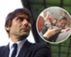 revealed: what conte said as diego costa aimed a fire extinguisher at journalists