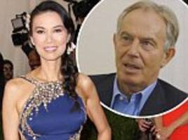 tony blair lost for words with wendi deng question