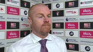 bournemouth 2-1 burnley: sean dyche says side ran out of steam