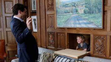 prime minister justin trudeau brings his toddler to work