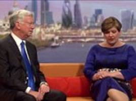 michael fallon humiliated on live tv by emily thornberry