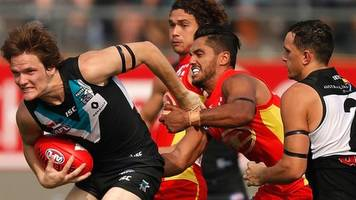 aussie rules football: port adelaide power beat gold coast suns in china