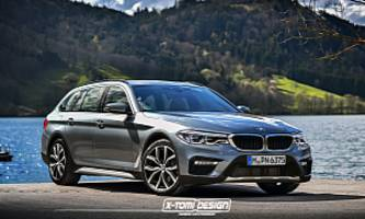 2017 BMW 5 Series Cross Touring Rendering is an A6 allroad Lookalike