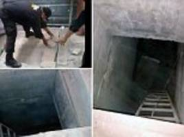 mexican police find 45ft prison tunnel inside cell
