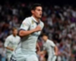 james can step out of ronaldo and bale shadows at madrid to be a galactico at man utd
