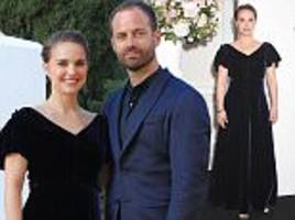 natalie portman and benjamin millepied at dior launch