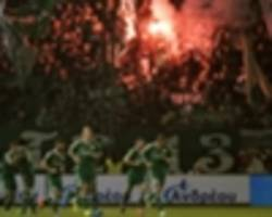 paok coach taken to hospital after brawl in derby at panathinaikos
