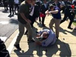 turkish president's bodyguards attack protesters in dc