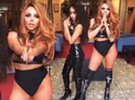 little mix's jesy nelson puts on racy display in bra top