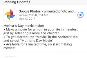Google Photos for iOS gets Mother's Day movie feature, three days after Mother's Day