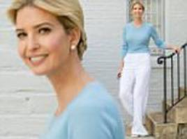 ivanka trump wears a sweater despite soaring temperatures