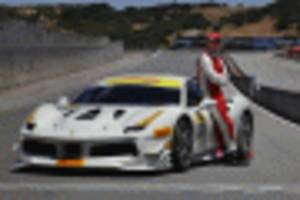 actor michael fassbender races in ferrari challenge one-make series