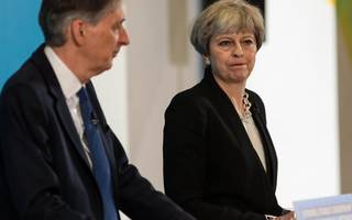 may refuses to say whether hammond will be chancellor after election