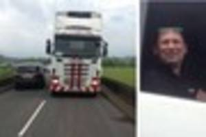 Lorry driver caught on camera flouting weight restriction on...