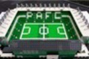 Plymouth Argyle's Home Park recreated in Lego form