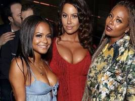 christina milian & keke palmer have an opinion on amber rose knocking out growing gossip
