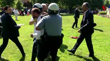 Brawl at Turkish embassy protest in DC