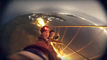 teenagers film themselves illegally climbing golden gate bridge; video