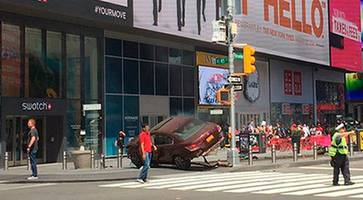times square crash: at least 13 injured as car hits pedestrians in new york