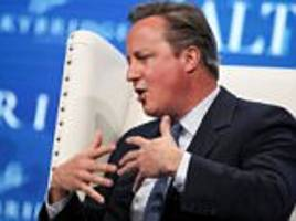 David Cameron travels to Las Vegas to give ANOTHER speech