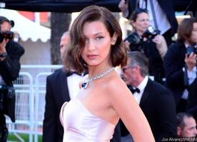 whoops! bella hadid flashes her underwear as she hits cannes red carpet in high-slit dress