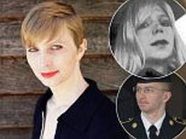 chelsea manning shares photo of herself in v-neck dress