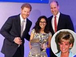 prince william and harry present the diana legacy award