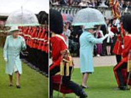 the queen presents the scots guards with new colours