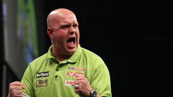 van gerwen beats wright to win third premier league