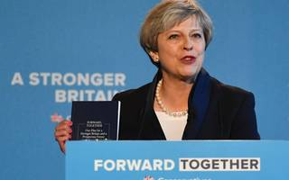 Prime Minister Theresa May unveils Conservative manifesto