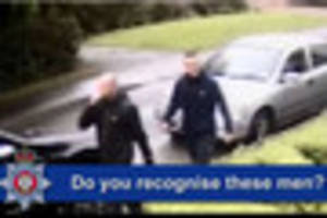 Derbyshire police want to speak to these men in connection with a...