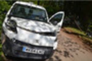 Van driver calls for action on rural road dangers after collision...