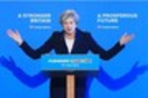 theresa may's conservative election manifesto to face 'britain's...