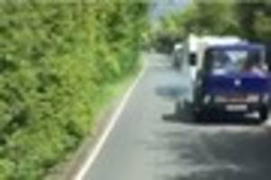 Watch the moment a Chelmsford lorry driver feared for his safety...