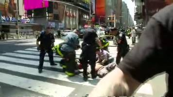 times square incident: footage from scene