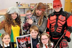 picture gallery: superheroes swoop into east kilbride for action-packed comic con day