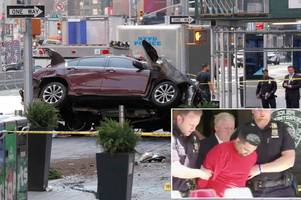 teenager killed and 22 injured as out-of-control car driven by suspected drunk-driver mows down pedestrians in new york's times square