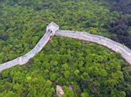 china unveils replica of great wall