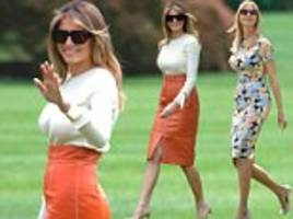 Melania and Ivanka Trump join Donald on trip abroad