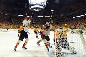 Ducks even series vs Predators with overtime win