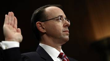 Rosenstein Resists The Resistance: It Was Appropriate For Trump To Fire Comey
