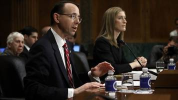 Deputy AG Says He Talked About Comey Firing Before Trump Took Office