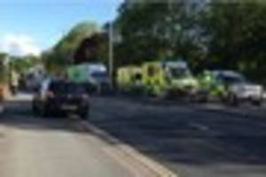 crash leaves main road into plymouth city centre partially...