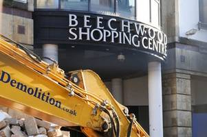 going, going, going.... beechwood shopping centre being demolished to make way for john lewis