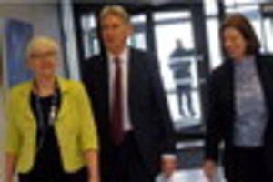 chancellor philip hammond stops off in grimsby on campaign tour